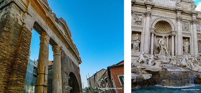 Roma: Pórtico de Otávia e Fontana di Trevi