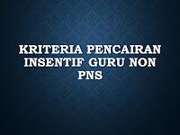 Kriteria Pencairan Insentif Guru Non PNS