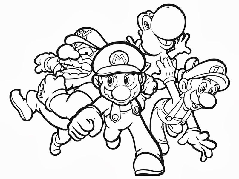 Disegni Da Colorare Di Mario Kart Wii Personaggi Super Mario
