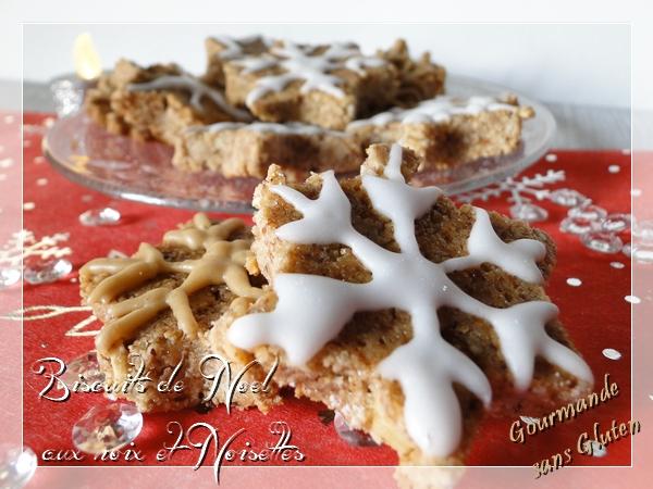 Biscuits de Noël aux noix et noisettes