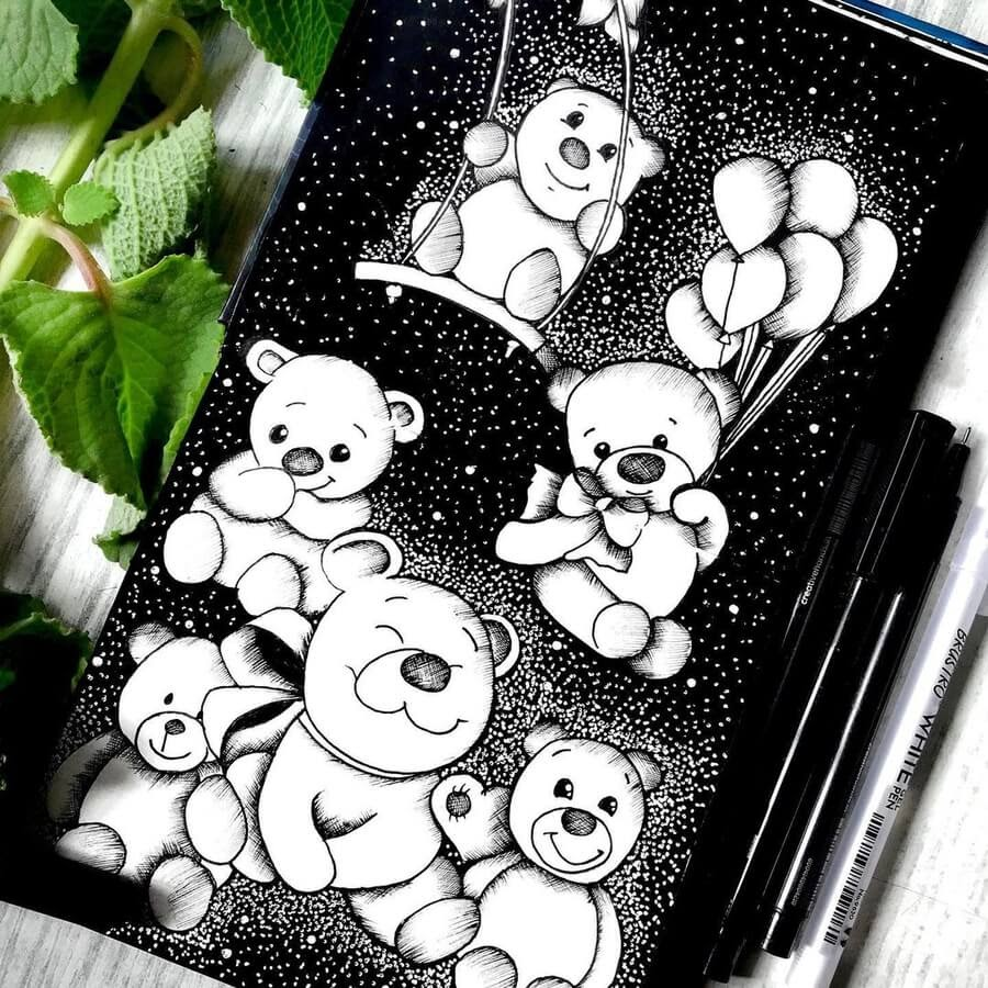 01-Cute-Teddy-Bears-Prasun-Balasubramaniam-www-designstack-co