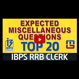 Top 20 | Expected Miscellaneous Questions | Reasoning | IBPS RRB Clerk 2017