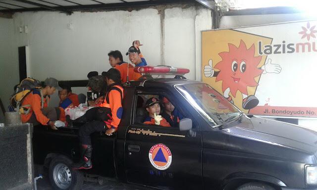 Sinergi aksi bersama untuk sesama, lazismu, mdmc dan BPBD Jember siap menuju lokasi bencana