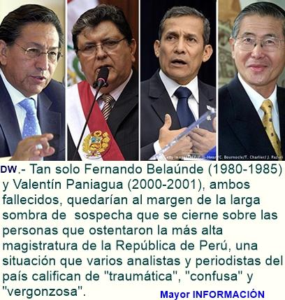 Perú: por caso de corrupción Odebrecht pueden ir a prisión expresidentes