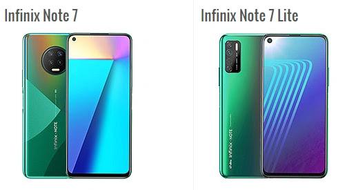 ما هو الفرق بين هاتف Infinix Note 7 Lite و Infinix Note 7 ؟