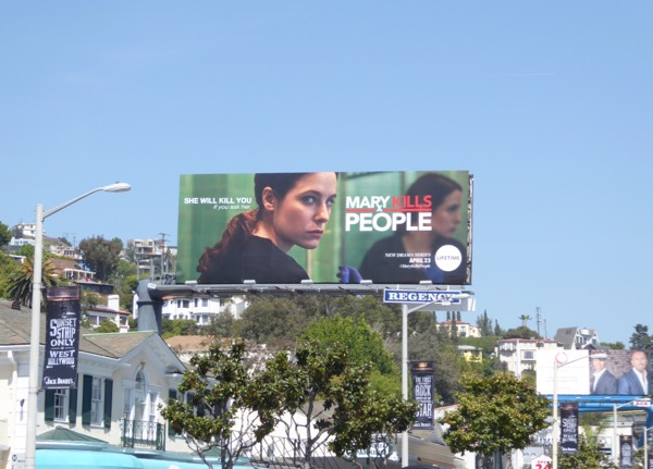 Mary Kills People series launch billboard
