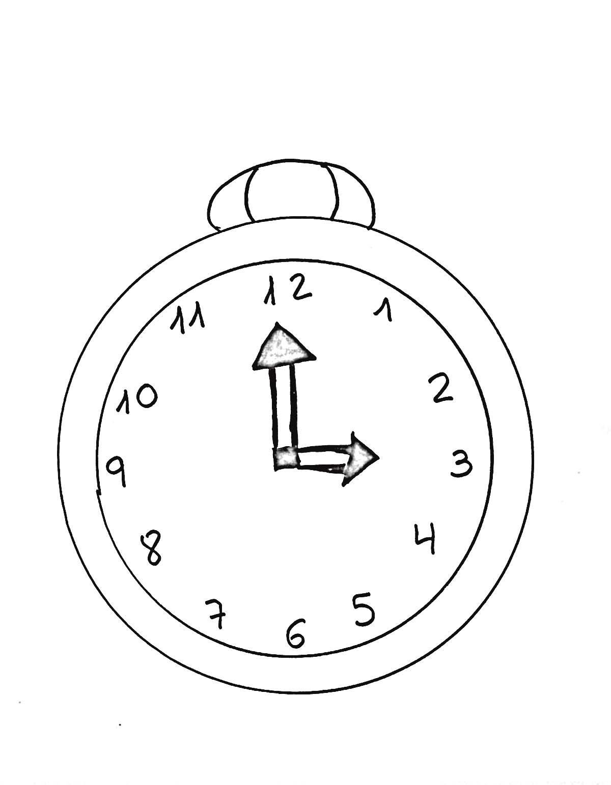 Reloj de pared para colorear - Imagui
