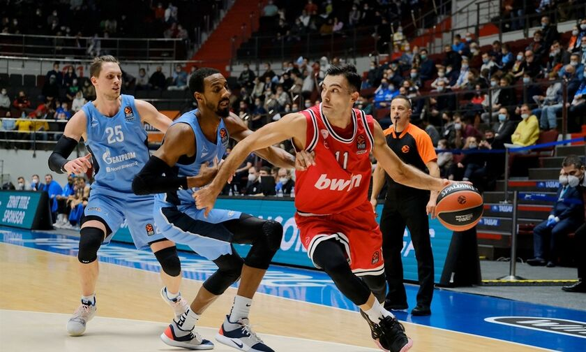 Euroleague-βαθμολογία: Ανεβαίνει ψηλά ο Ολυμπιακός με 4-3 ρεκόρ
