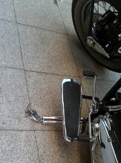 Béquille de moto