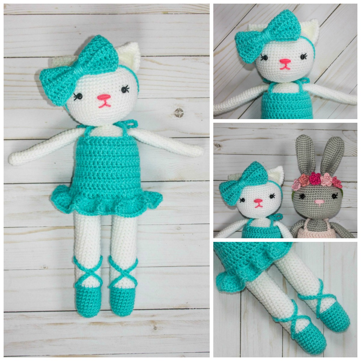 Ballerina Kitty Crochet Pattern - thefriendlyredfox.com