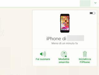 Opzioni iPhone