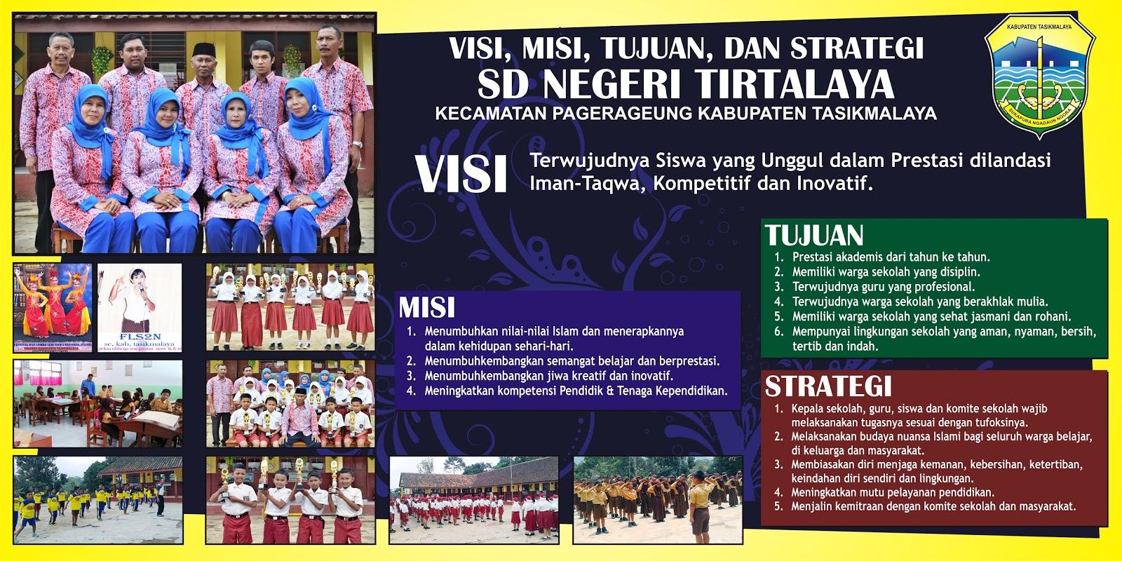 Download Contoh Banner Visi Misi Sekolah Dasar cdr   KARYAKU