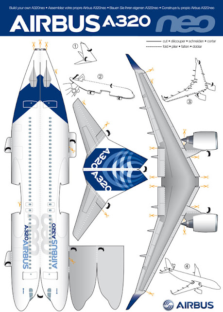 Build your own Airbus A320neo with paper