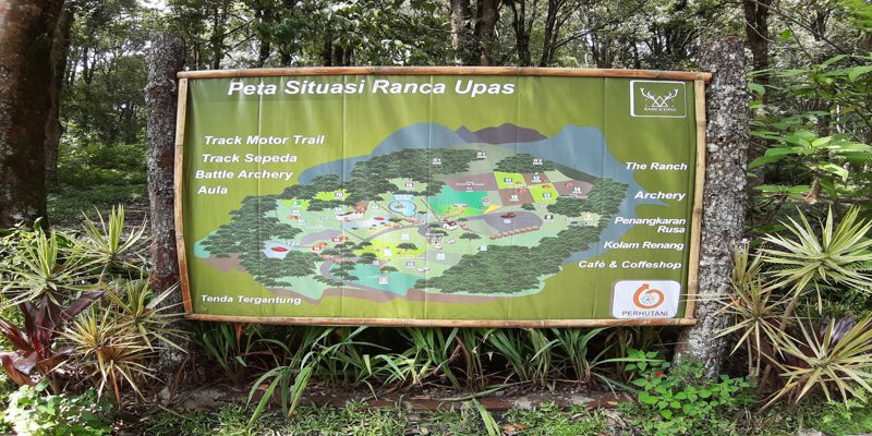 Peta Wisata Kampung Cai Ranca Upas Ciwidey Bandung