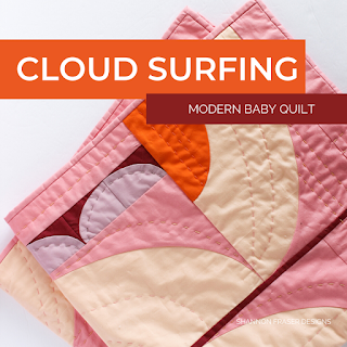 Cloud Surfing Baby Quilt | Modern Curves Quilt | Shannon Fraser Designs #babyquilt #handquilted