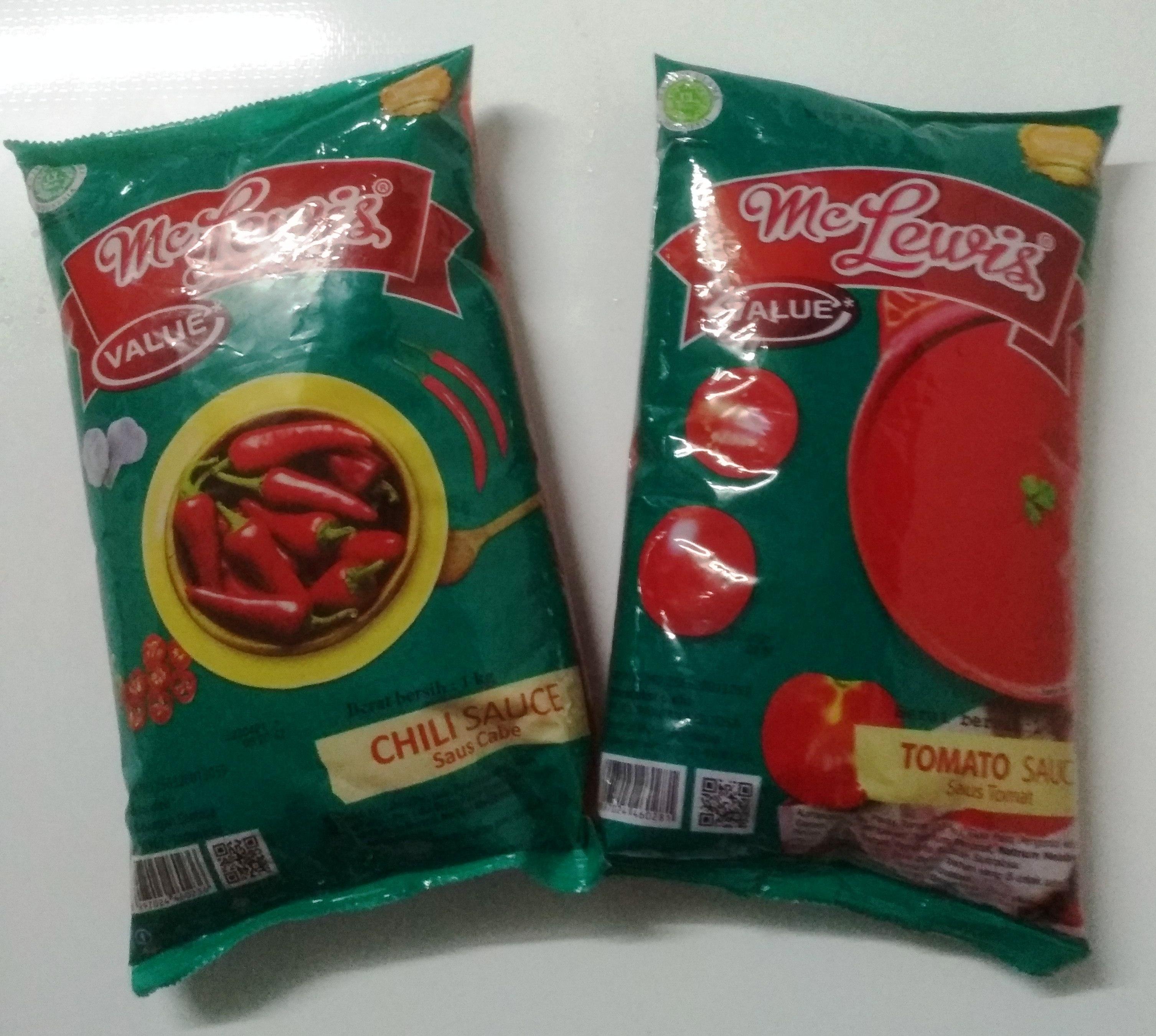 Saos sambal Cabe atau Tomat Mc Lewis