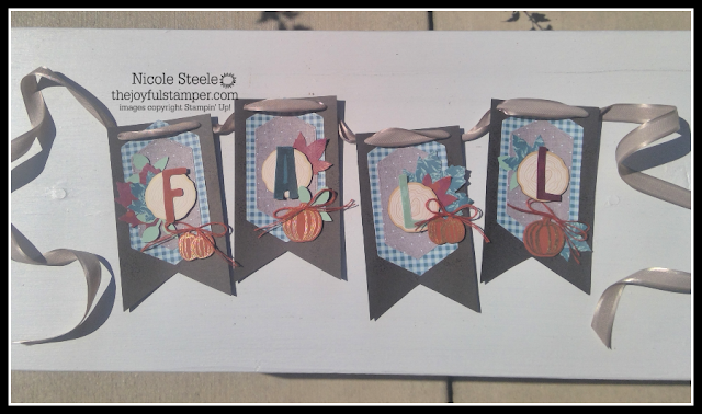 Fall banner using Stampin' Up!'s Come To Gather suite by Nicole Steele The Joyful Stamper