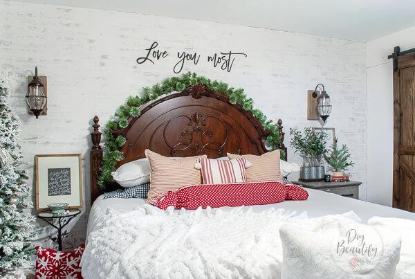 farmhouse Christmas bedroom decor