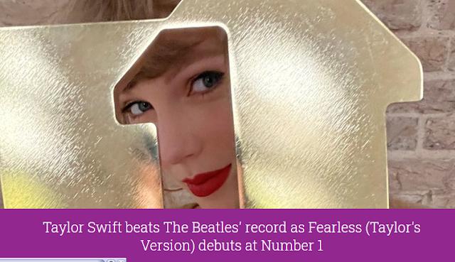 Taylor Swift Resmi Mengalahkan The Beatles
