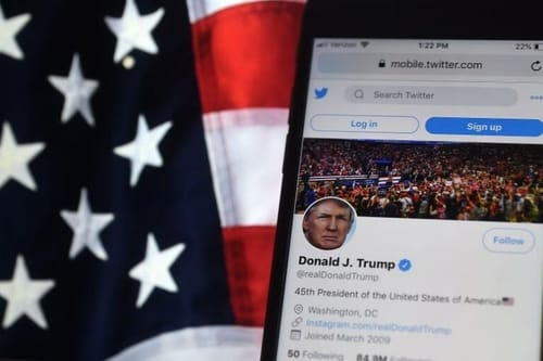Twitter gives disclaimer of President Trump's tweet