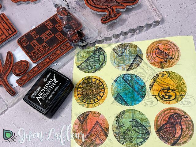 DIY Stamped Stickers Tutorial Step 4 - Gwen Lafleur