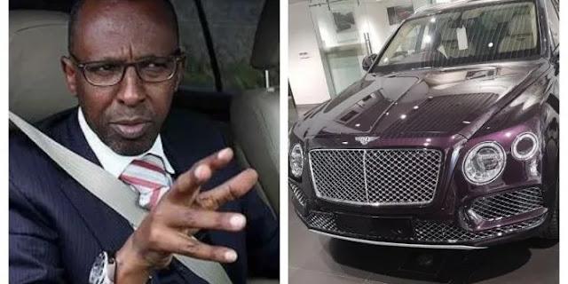 lawyer Ahmednassir Abdullahi in his 40 Million Bentley