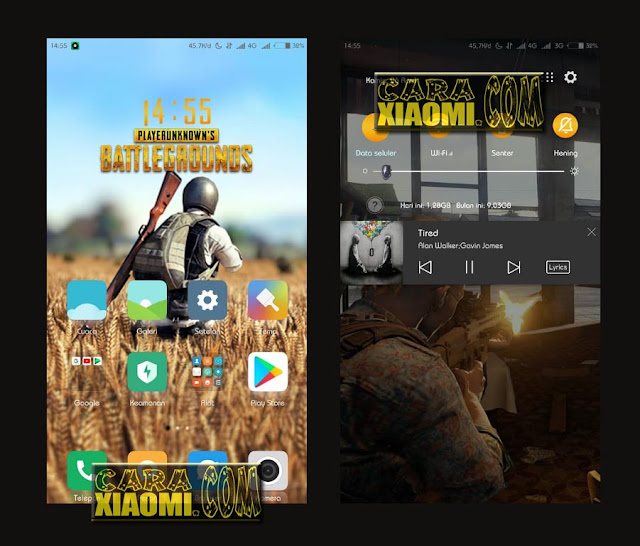 Download Tema MIUI Xiaomi Game PUBG Mtz For Redmi Themes Terbaru