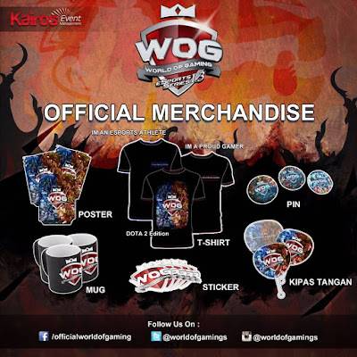 Official merchandise at World Of Gaming eSport Series 1.3
