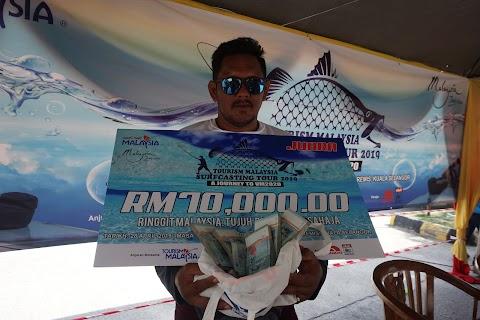 PEMANDU LORI MENANG WANG TUNAI RM 70 RIBU SEMPENA TOURISM MALAYSIA SURFCASTING TOUR 2019, A JOURNEY TO VISIT MALAYSIA YEAR 2020 DI PANTAI REMIS, KUALA SELANGOR