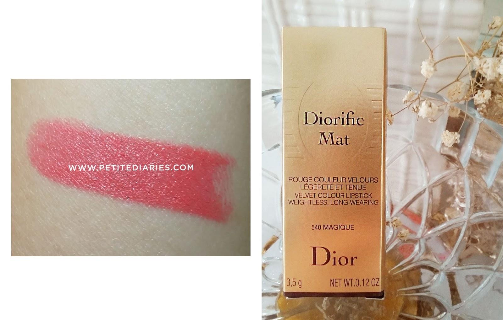 dior diorific mat magique swatch