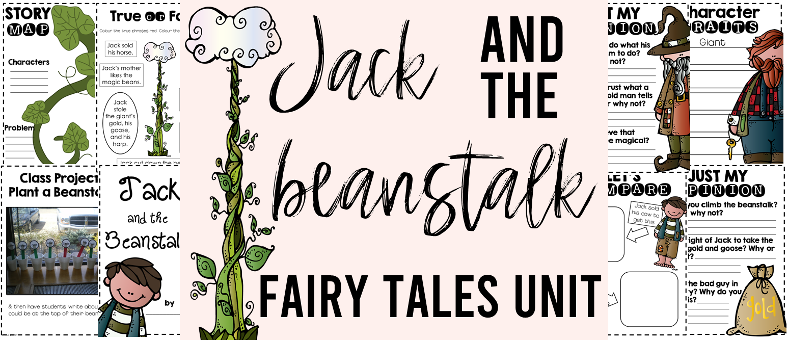 Fairy Tales unit featuring Jack and the Beanstalk, Little Red Riding Hood, The Three Pigs, Goldilocks and the Three Bears, The Frog Prince, and Cinderella. Packed with lots of fun literacy ideas and guided reading activities. Common Core aligned. Grades 1-3. #fairytales #literacy #guidedreading #1stgrade #2ndgrade #3rdgrade