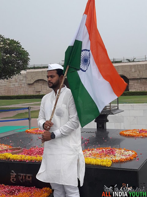 Ram Mohan Naidu with indian flag