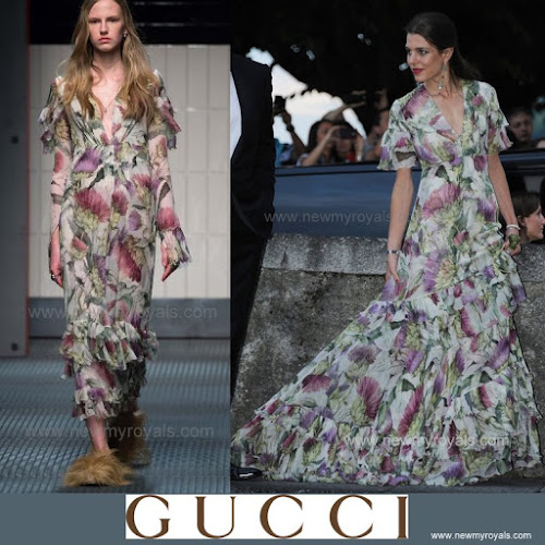 Charlotte Casiraghi Style Gucci Dress