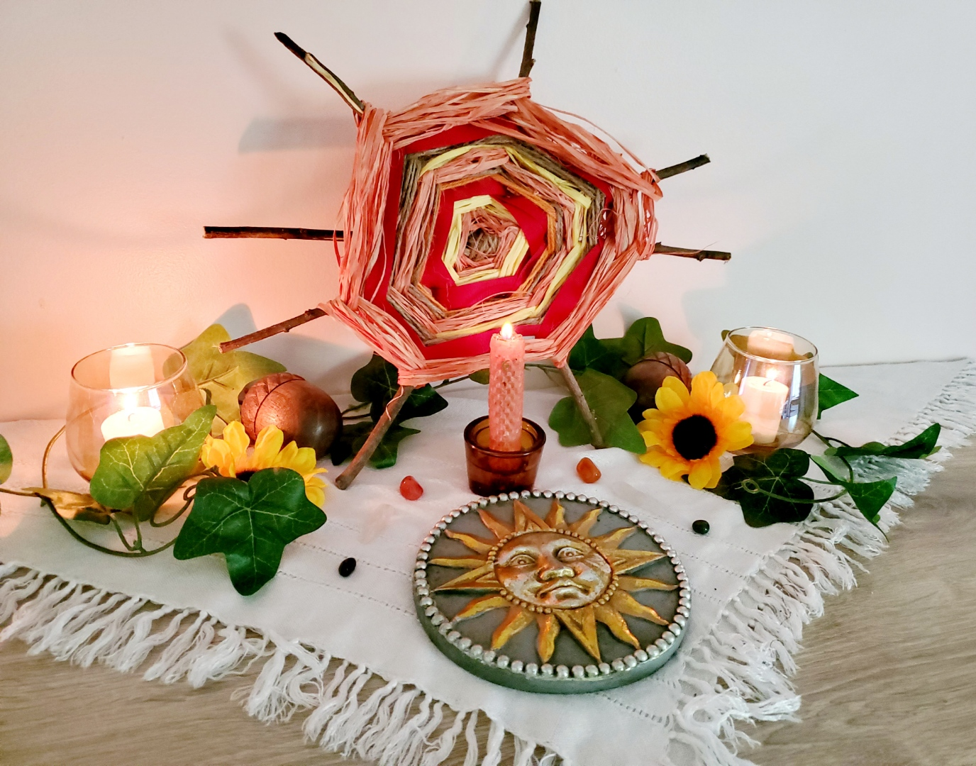 Litha, altar, witch, witchcraft, Midsummer, Midsummer Solstice, Summer Solstice, witchy