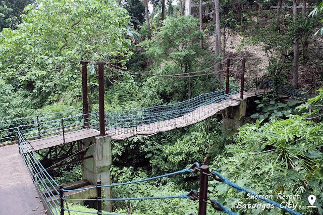 Hanging Bridge at Shercon Resort.