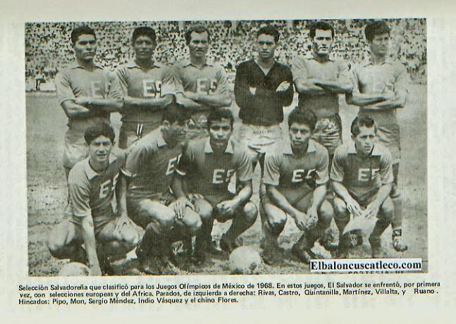 El Salvador time de futebol 1968