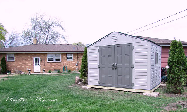 New shed in the backyard