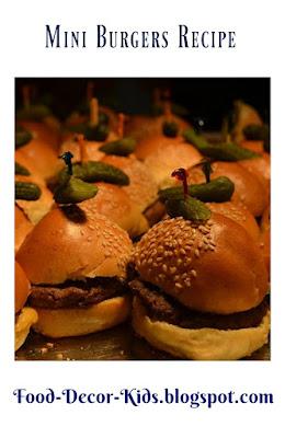 mini burgers recipe food-decor-kids.blogspot.com