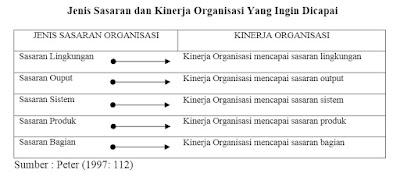 Jenis Sasaran dan Kinerja Organisasi Yang Ingin Dicapai