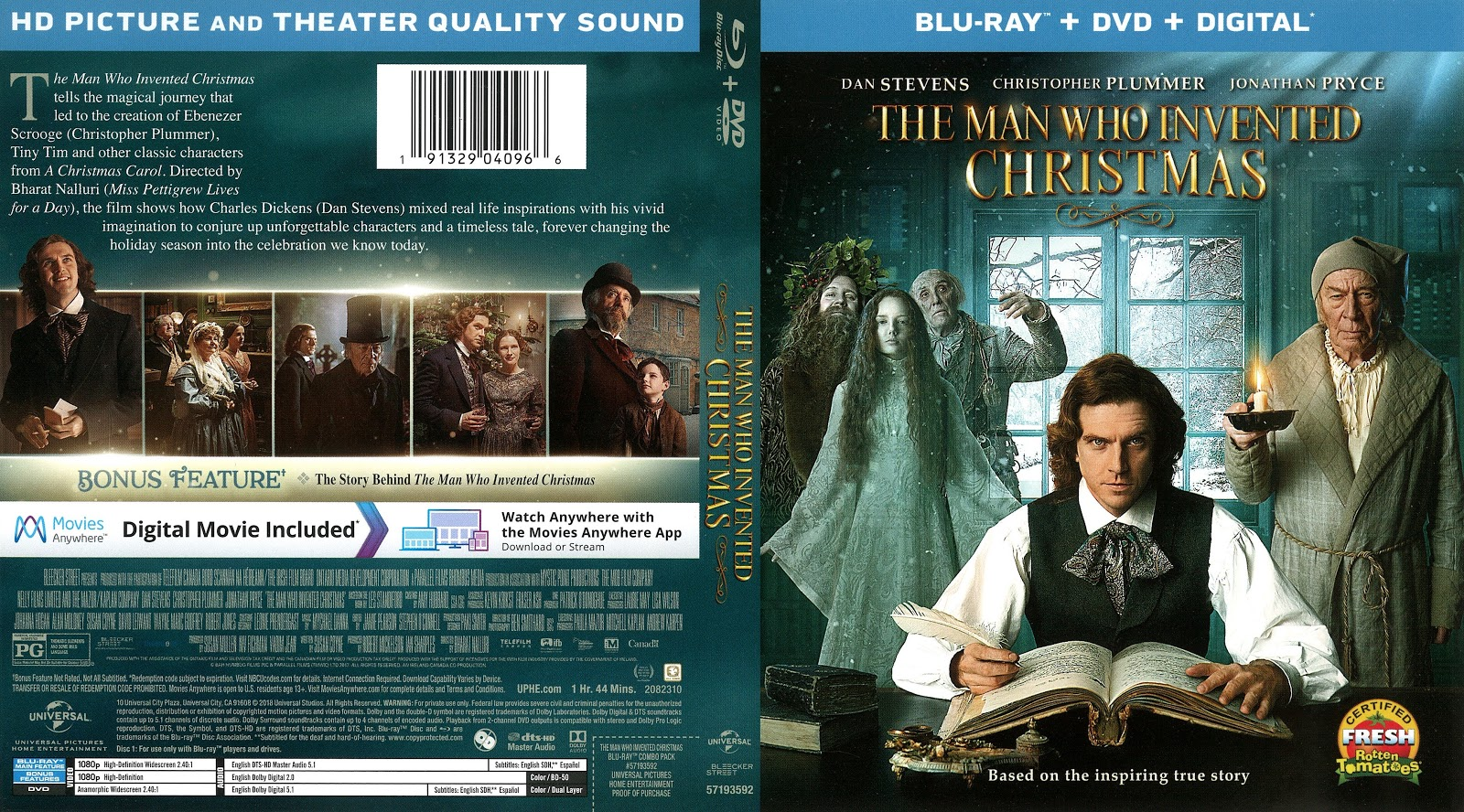 The Man Who Invented Christmas Poster.The Man Who Invented Christmas Bluray Cover Cover Addict