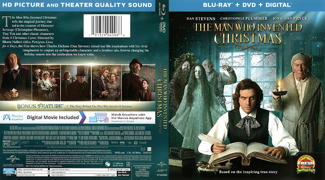 The Man Who Invented Christmas Bluray Cover
