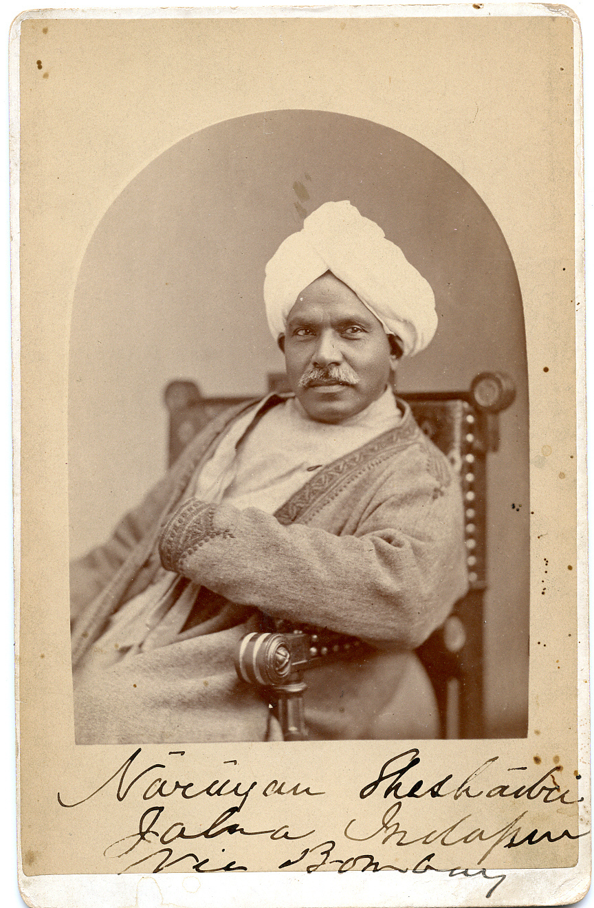Studio Portrait of a Gentleman from Bombay (Mumbai) - Undated Photograph