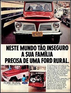 Propaganda Ford Rural 1970, Rural Willys anos 70, carro antigo Ford, década de 70, Oswaldo Hernandez,
