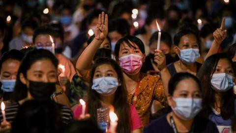 Myanmar protests: At least 21 protesters are killed by Military in bloody crackdown as politicians removed by coup call for revolution (videos)