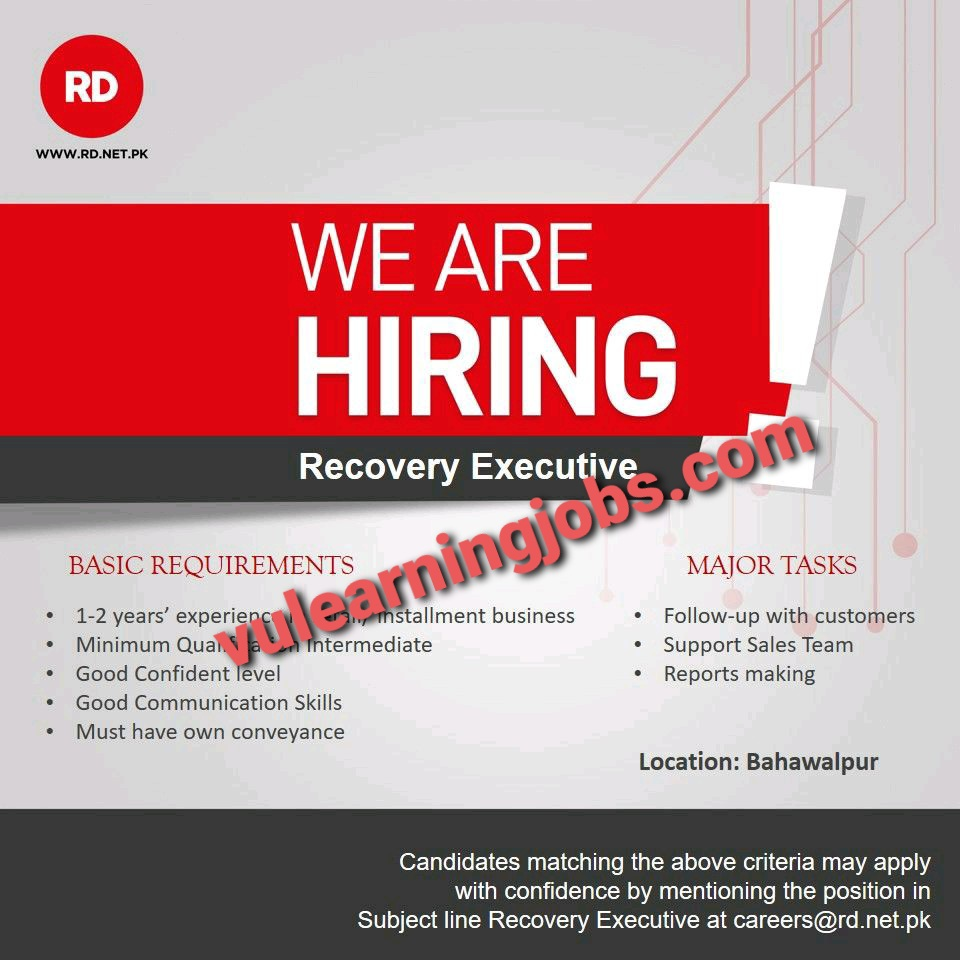 RD Company April Jobs In Pakistan 2021 Latest | Apply Now