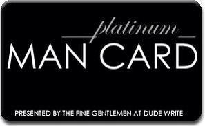 Platinum Man Card Award