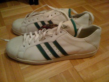 co2styles: VINTAGE ADIDAS ULTRASTAR GREEN MADE IN FRANCE SIZE 13