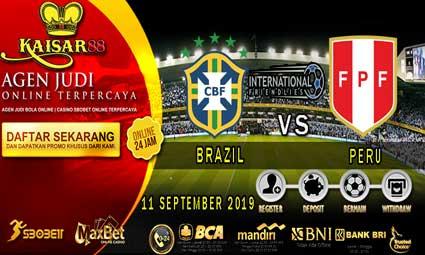 PREDIKSI BOLA TERPERCAYA BRAZIL VS PERU 11 SEPTEMBER 2019