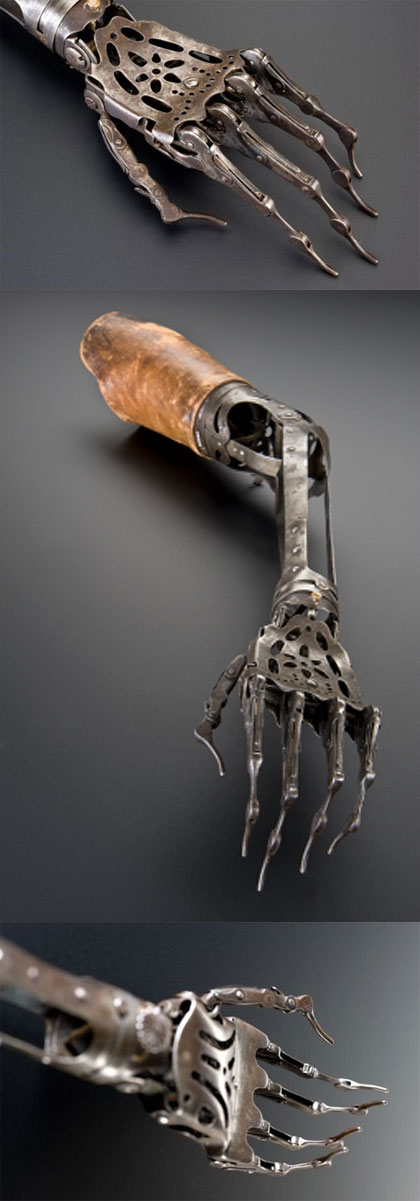 victorian artificial arm form the 1800s