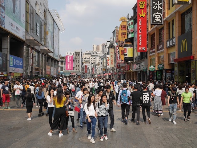 crowded day at the Shangxiajiu Pedestrian Street (上下九) in Guangzhou